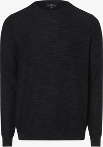 Granatowy sweter Nils Sundström z bawełny