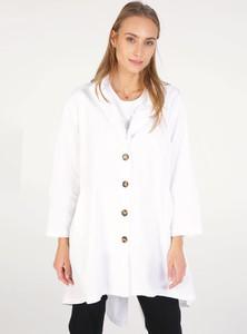 Płaszcz Unisono w stylu casual z bawełny