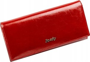 Czerwony portfel Rovicky ze skóry