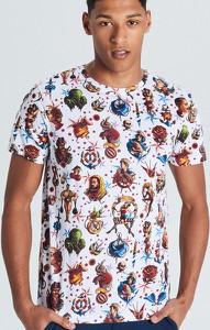 T-shirt Cropp z nadrukiem w młodzieżowym stylu z krótkim rękawem