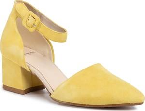 Żółte czółenka Vagabond ze skóry