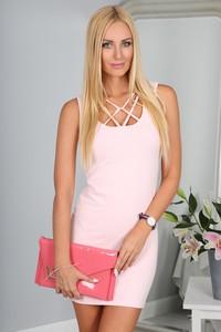 Sukienka Fasardi na ramiączkach dopasowana mini