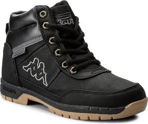 Czarne buty trekkingowe Kappa z płaską podeszwą