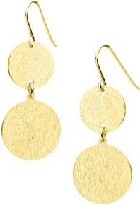Manoki KA149G subtelne kolczyki drapane złote
