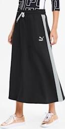Czarna spódnica Puma w sportowym stylu z bawełny