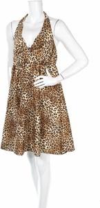 Brązowa sukienka Sanctuary rozkloszowana z dekoltem w kształcie litery v na ramiączkach