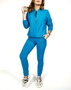 Niebieski dres Oscar Fashion z bawełny