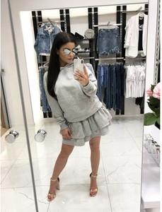Spódnica Magneticsklep w młodzieżowym stylu z dresówki mini