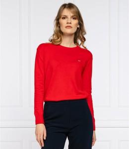 Czerwony sweter Tommy Jeans w stylu casual z wełny