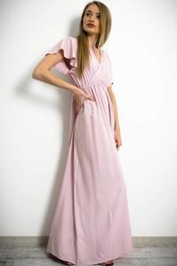 Sukienka Olika z krótkim rękawem kopertowa