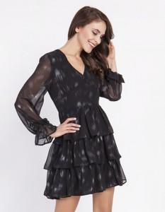 Sukienka Milena Płatek z dekoltem w kształcie litery v