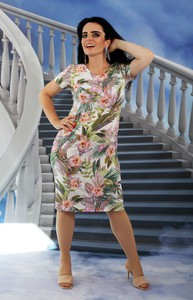 Sukienka Oscar Fashion z krótkim rękawem