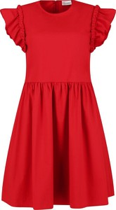Sukienka Red Valentino z okrągłym dekoltem rozkloszowana bez rękawów