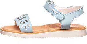 Niebieskie buty dziecięce letnie Pablosky na rzepy dla dziewczynek