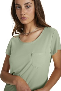 Zielony t-shirt Soaked in Luxury z bawełny z krótkim rękawem