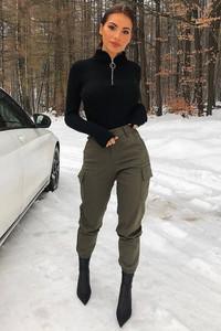Zielone spodnie IVET