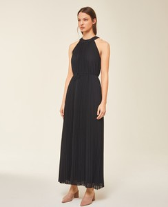 Czarna sukienka Ivy & Oak bez rękawów prosta maxi