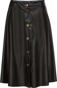 Czarna spódnica bonprix BODYFLIRT midi w stylu casual