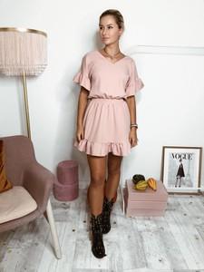 fcae6341b9 Różowa sukienka Papaya Atelier z bawełny