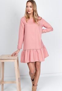 Sukienka ZOiO.pl z bawełny rozkloszowana z długim rękawem