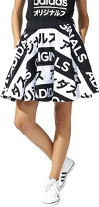 Spódnica Adidas z bawełny midi
