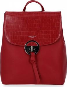 Czerwona torebka David Jones lakierowana duża