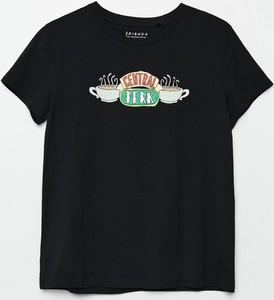 T-shirt Cropp z krótkim rękawem z okrągłym dekoltem w młodzieżowym stylu