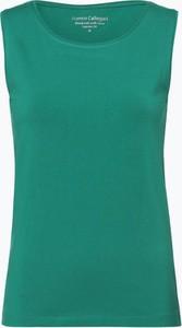 Zielony top Franco Callegari w stylu casual bez rękawów z dżerseju