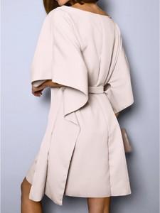 Sukienka magmac.pl mini z długim rękawem z tkaniny