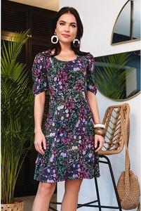 Sukienka Semper z krótkim rękawem z okrągłym dekoltem