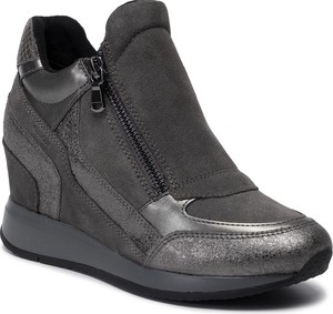 Sneakersy Geox na zamek na koturnie