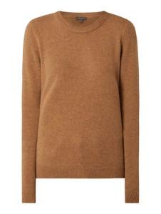 Brązowy sweter Montego w stylu casual z wełny