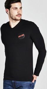 Koszulka z długim rękawem Guess z bawełny z długim rękawem w stylu casual