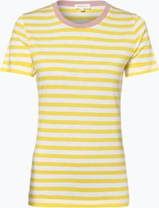 Żółty t-shirt ARMEDANGELS z okrągłym dekoltem