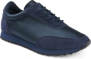 Granatowe buty sportowe TESTUDO sznurowane