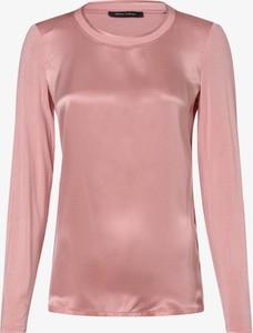 Różowa bluzka Marc O'Polo w stylu casual z długim rękawem