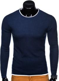 Granatowy sweter Ombre Clothing z bawełny