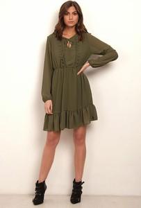 Zielona sukienka Manoukian z długim rękawem