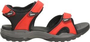 Czerwone sandały Geox ze skóry ekologicznej