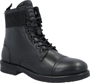Czarne buty zimowe Pepe Jeans sznurowane