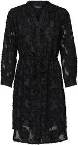 Czarna sukienka Selected Femme z długim rękawem mini