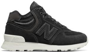 Buty sportowe New Balance sznurowane ze skóry z płaską podeszwą