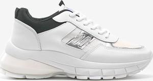 Buty sportowe Gemre.com.pl z płaską podeszwą ze skóry