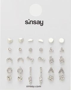 Sinsay - Kolczyki 15 pack - Srebrny
