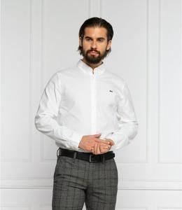 Koszula Lacoste z długim rękawem z wełny