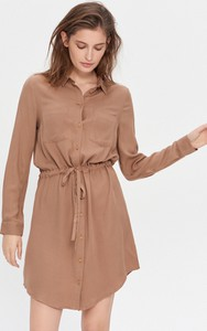 Brązowa sukienka House koszulowa