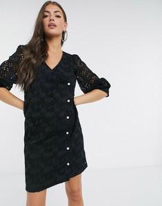 Czarna sukienka JUST FEMALE z dekoltem w kształcie litery v