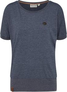 Granatowy t-shirt naketano z krótkim rękawem z dżerseju