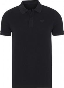Czarna koszulka polo Prada w stylu casual z krótkim rękawem