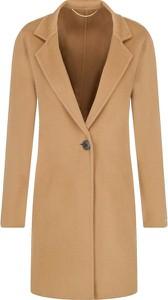 Brązowy płaszcz Marella z wełny